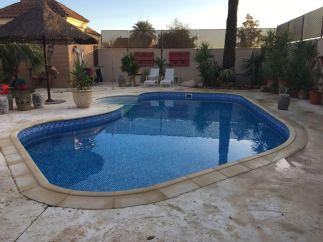 Construcción de piscinas de hormigón proyectado